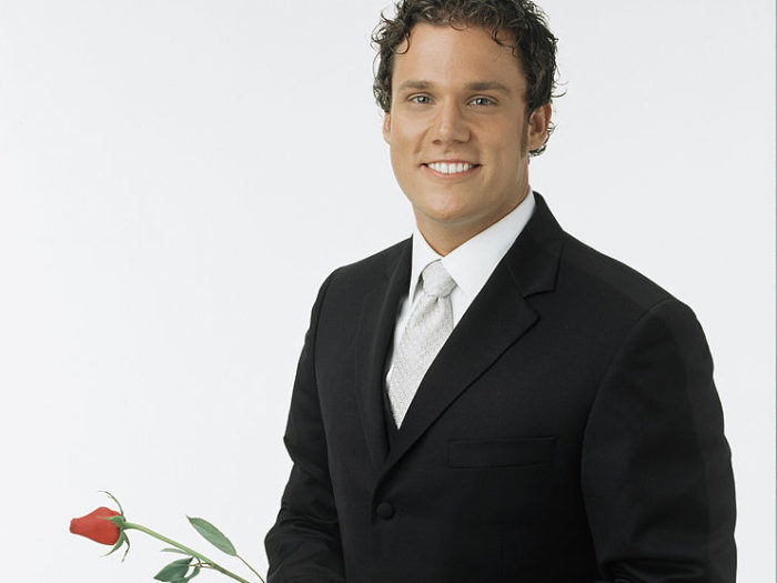 "UNITED STATES - JUNE 25:  66938_R01_032 - THE BACHELOR -- A familiar face returns to the phenomenal relationship reality show, as one-that-got-away from Trista returns for the fourth installment of ""The Bachelor."" Bob Guiney, 32, from Ferndale, MI, stole the hearts of women across America when he was introduced as one of 25 possible suitors for Trista Rehn on ""The Bachelorette."" While Bob was not Trista's final choice, he did win her over - as well as the 24 other bachelors -- with his quick wit and charming personality. The multitalented Guiney is an accomplished musician, songwriter and a soon-to-be author. A graduate of the University of Michigan, he co-owns a mortgage brokerage firm.  (Photo by Bob D'Amico/ABC via Getty Images)"